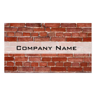 Brick Wall Double-Sided Standard Business Cards (Pack Of 100)
