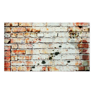 brick wall business card template with photo art