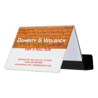 Brick wall construction customizable desk business card holder