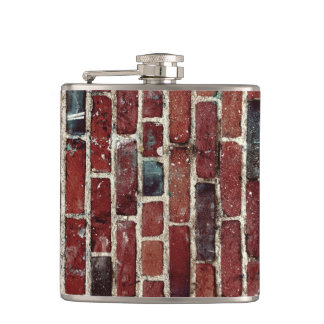 Brick Wall Cool Texture Pattern Hip Flask