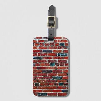 Brick Wall Cool Texture Pattern Luggage Tag