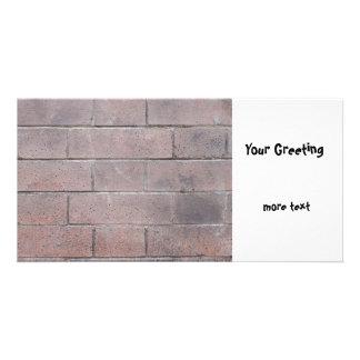 Brick Wall Customised Photo Card