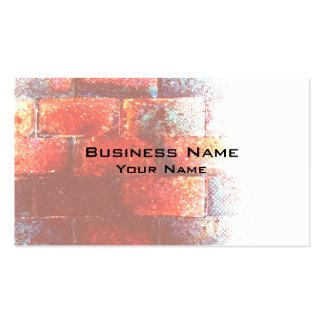 Brick Wall. Digital Art. Pack Of Standard Business Cards