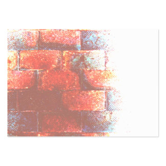 Brick Wall. Digital Art. Pack Of Chubby Business Cards