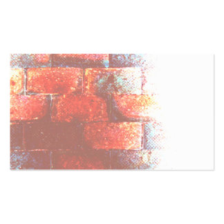 Brick Wall. Digital Art. Double-Sided Standard Business Cards (Pack Of 100)
