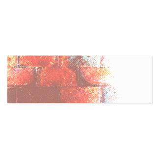 Brick Wall. Digital Art. Business Card Template