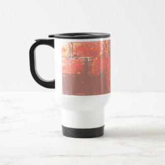 Brick Wall. Digital Art. Stainless Steel Travel Mug