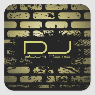 Brick Wall DJ Sticker