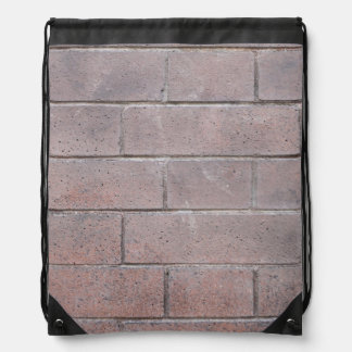 Brick Wall Drawstring Bag