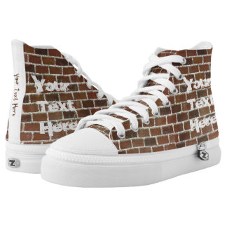 Brick Wall Graffiti High Top Shoes