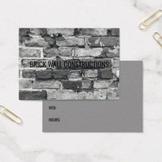 Brick Wall Grey Black & White Bricks Background Business Card
