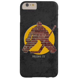 Brick Wall Hockey Goalie Barely There iPhone 6 Plus Case