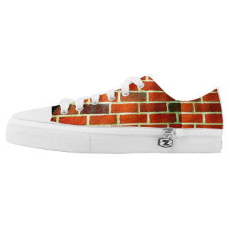 Brick wall, image, sneakers' low tops