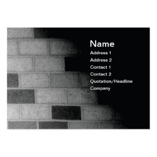 brick wall in black and white business card templates