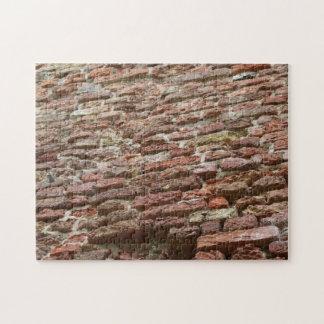 Brick wall jigsaw puzzle