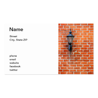 Brick Wall Light Double-Sided Standard Business Cards (Pack Of 100)