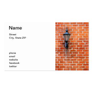 Brick Wall Light Business Card Template