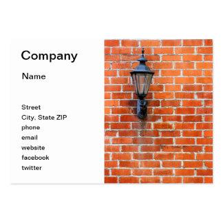 Brick Wall Light Business Card Templates
