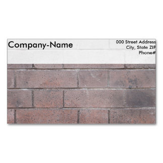 Brick Wall Magnetic Business Card