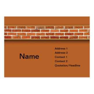 brick wall pack of chubby business cards