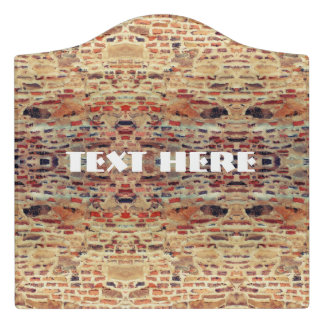 Brick Wall Pattern Door Sign