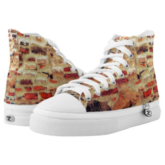 Brick Wall Pattern High Tops