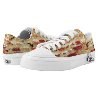 Brick Wall Pattern Low Tops