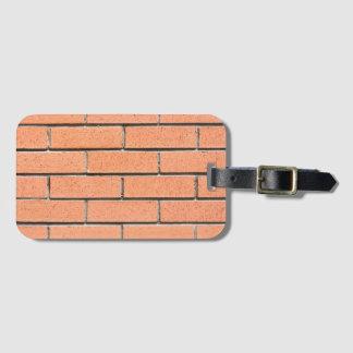 Brick wall pattern luggage tag
