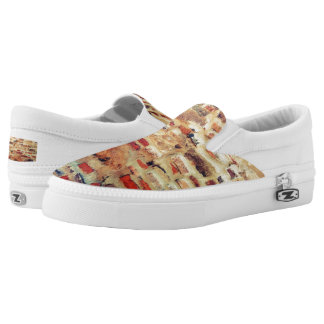 Brick Wall Pattern Slip-On Shoes