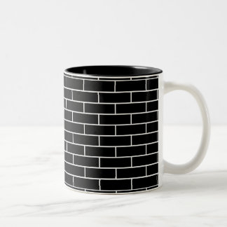 Brick Wall Pattern with your color brick. Two-Tone Mug