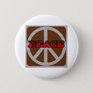 Brick Wall Peace 6 Cm Round Badge