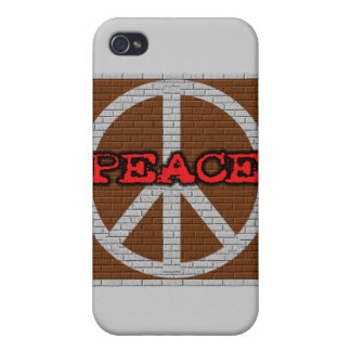 Brick Wall Peace and Gifts iPhone 4 Cases