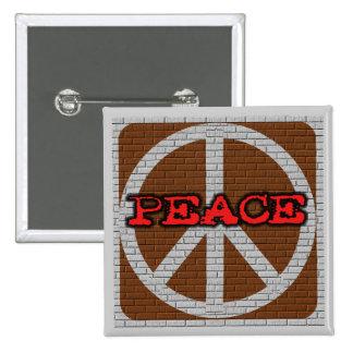 Brick Wall Peace Tshirts and Gifts Pin