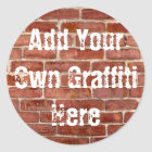 Brick Wall Personalised Graffiti Stickers