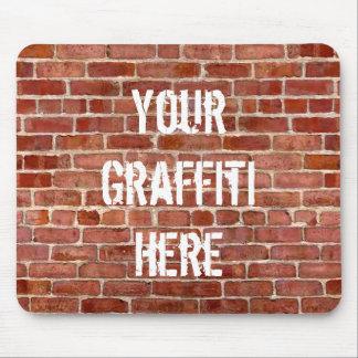 Brick Wall Personalized Graffiti Mouse Pad