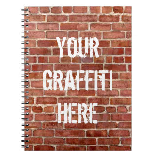 Brick Wall Personalized Graffiti Notebook