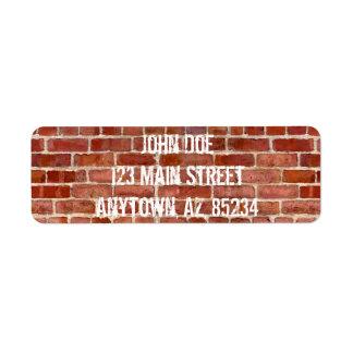 Brick Wall Personalized Graffiti Re Address Labels