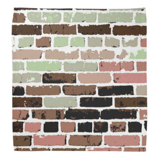 Brick Wall - Pink/Green/Brown/Black Bandana