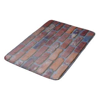 Brick wall - red mixed bricks and mortar bath mat