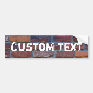 Brick wall - red mixed bricks and mortar bumper sticker