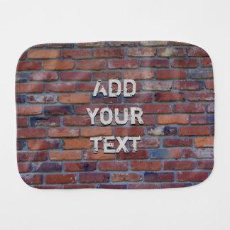 Brick wall - red mixed bricks and mortar burp cloth