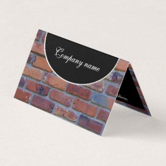 Brick wall - red mixed bricks and mortar business card