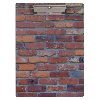 Brick wall - red mixed bricks and mortar clipboard
