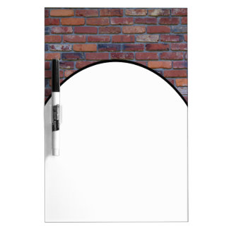 Brick wall - red mixed bricks and mortar dry erase board