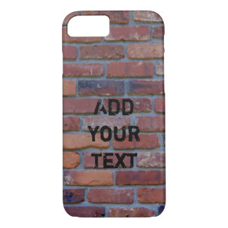 Brick wall - red mixed bricks and mortar iPhone 8/7 case