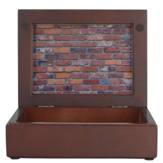 Brick wall - red mixed bricks and mortar keepsake box