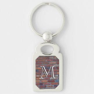 Brick wall - red mixed bricks and mortar key ring
