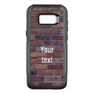 Brick wall - red mixed bricks and mortar OtterBox commuter samsung galaxy s8+ case