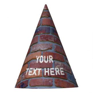 Brick wall - red mixed bricks and mortar party hat