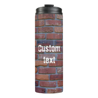 Brick wall - red mixed bricks and mortar thermal tumbler